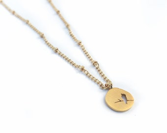 Bird Necklace, Delicate gold necklace, dainty necklace gold, gold chain necklace, gold necklace dainty, layeredandlong,neclace, jewlery