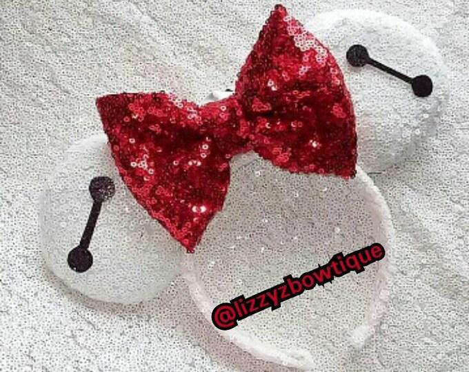 Baymax Sequin Minnie ears