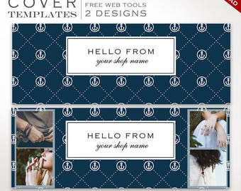 Facebook Cover Template - Nautical DIY Facebook Cover Image Design - Facebook Cover Photo Facebook Cover Banner Photography SMFB AAC