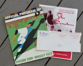 1960's Baseball Programs and Washington Senators Envelope