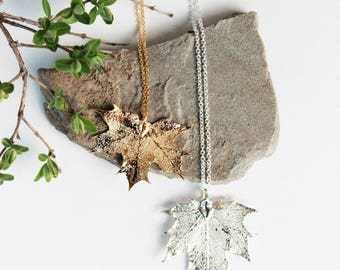 Maple Leaf Necklace   silver leaf necklace, gold leaf necklace, leaf necklace, canada 150, maple leaf, canada necklace, nature jewelry