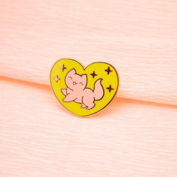 Sparkle Kitty Pin by The Pink Samurai - lapel pin, enamel pin, pin badge, hard enamel, hat pin