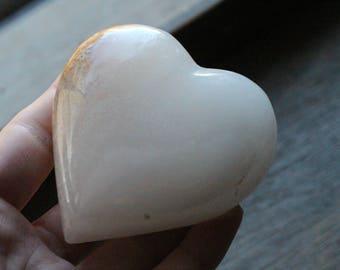 Yellow Onyx Large Stone Shaped Heart #83169
