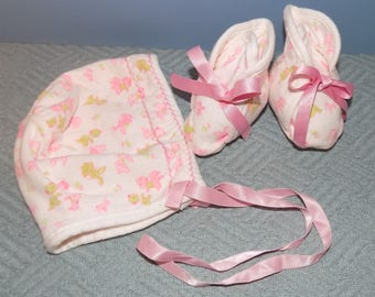 Vintage Carter's Bonnet and Booties