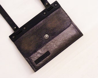 Leather Wallet Purse/ Travel Organizer/ Leather Portafolio/ ID Holder/ IPhone Wallet/ Leather Clutch/ by dECOnstruction Lab
