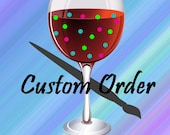 Custom Wine Glasses for Megan