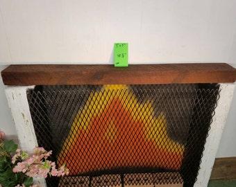 "Fireplace Mantle Reclaimed Barnwood Beam 48 3/8"" Long Barn Wood Shelf Beam"