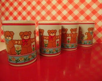 Childrens Cups - Bear - Set Of 4 - Lucy Rigg - Enesco