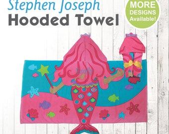 Mermaid Hooded Towel, Stephen Joseph Hooded Towel, Kids Beach Towel, Hooded Bath Towel, Sea Creature Towel, Hooded Towel for Kids