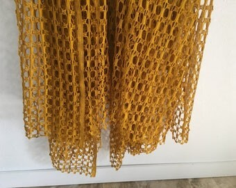 Vintage Curtains, Vintage Drapery, Mesh Curtain Fabric, Cut to Length Curtains, Large Mesh Curtains, Curtain Fabric