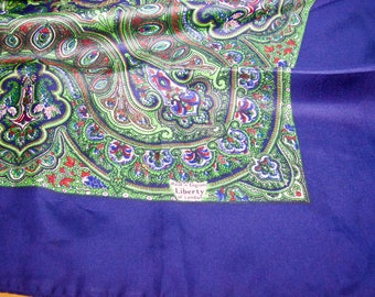 Vintage Authentic Liberty Of London Silk Scarf