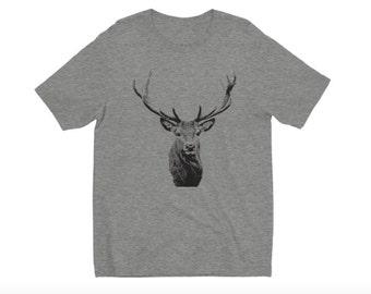 Deer T-Shirt, Animal T-Shirt, Animal Shirt, Deer Shirt, Wildlife T-Shirt, Men's T-Shirt, Buck T-Shirt, Whitetail Deer