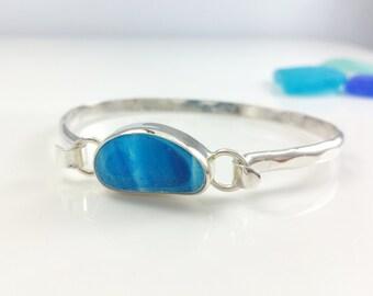 Classic Sea glass Bracelet, Sterling Silver, Classic, Sea Glass