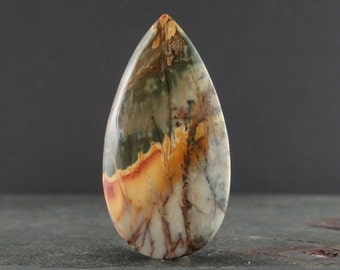 Gorgeous Cherry creek jasper cabochon, Natural stone, Semiprecious stone , Jewelry making supplies S7456