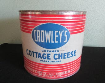 "Crowley""s Creamed Cottage Cheese Advertising Tin"