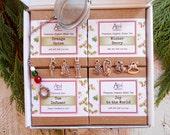 Holiday Tea Gift Box Set, Organic, 3 Organic Teas and Holiday Tea Infuser,Choose 3 Teas, Gift Basket,Housewarming, Under 30 dollars