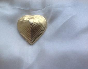 Vintage Guerlain parfume brooch bronze