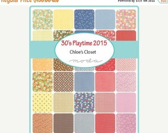 On Sale 30's Playtime 2015 by Chloe's Closet for Moda - One Fat Quarter Bundle 40 skus - 33040AB