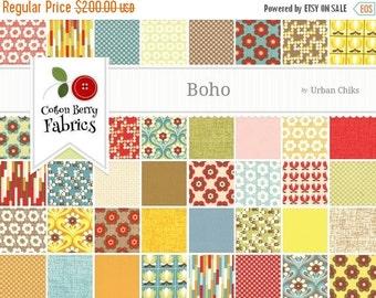 On Sale Boho Fat Quarter Bundle Plus Extra Yardage by Urban Chiks for Moda - One Fat Quarter Bundle Plus 5 Yards - 31090AB