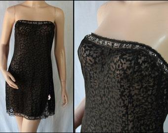 Slip Dress Gaymode Burnout Black Pin Up Lingerie