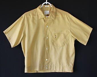 50s Rockabilly Shirt, Button Tab Waist, Retro Menswear, Shirt Jac
