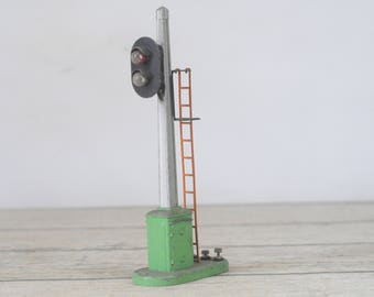 Vintage Railroad Crossing Sign Model Train Set Railroad Signal Sign Signal Tower Electric #3