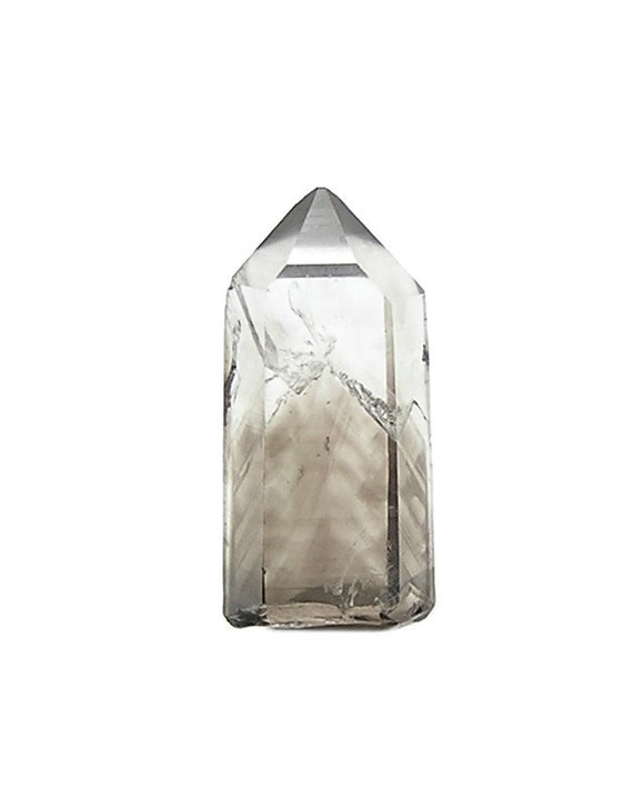 Smoky Quartz Crystal Gemstone, Smokey Bear Chevron Phantom Quartz Crystal Point Natural Gem,  aka smoky topaz, Rock Crystal