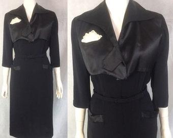 SALE!!!! Classic 1950s LBD wiggle dress