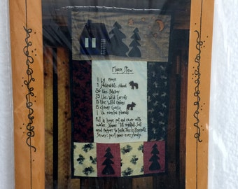 Moose Stew Wallhanging Quilt Sewing Pattern UC FF Uncut Quilting 17 x 26 Rustic Cabin