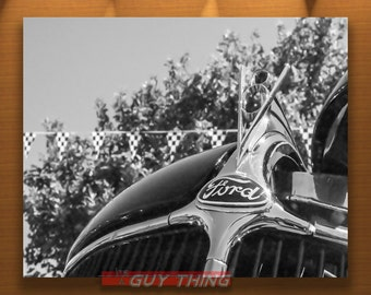 Ford Picture, Ford V8, Boyfriend Gift, Old Car Photograph, Black and White, Car Art, Mancave Wall Art, Ford Cars, Vintage Fords