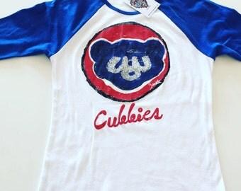 Chicago Cubs Women's Baseball Shirt (Fitted Shirt)