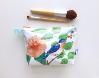Eastern Bluebird Divided Pouch Small (handmade philosophy's illustration)