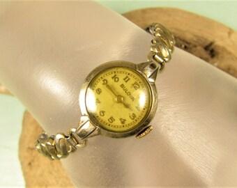 Bulova Wrist Watch - Vintage 17J Ladies 10k Gold Filled Craft Repair