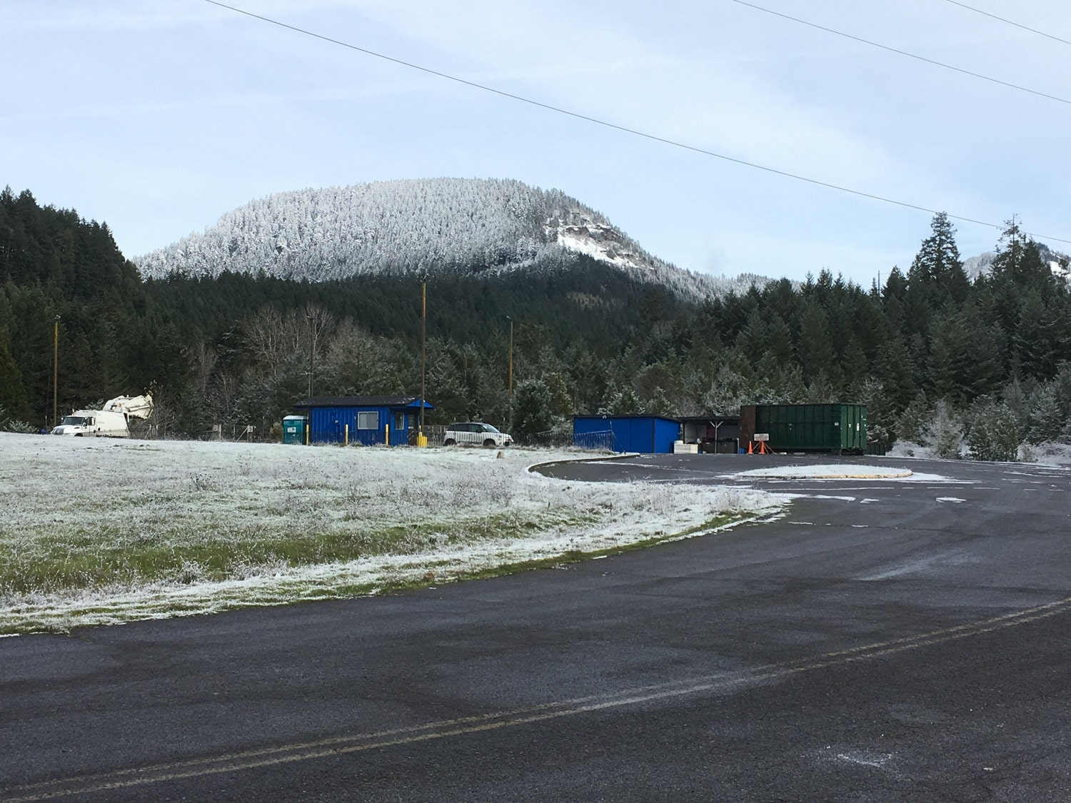 The hilltop recycle center.
