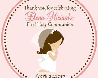 First Communion Favor Tags - 1st communion favors - Communion Favor Tags