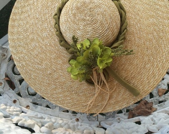 colonial hat  shallow crown straw hat dinner plate hat