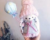 Cute artist teddy Bunny by Alena Smirnova