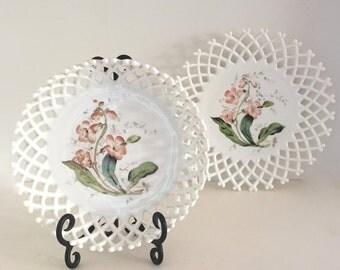 Milk glass Plate / Platter / bowl