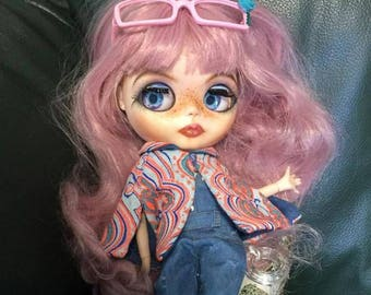 Blythe Factory Doll, Fully Customized Blythe, OOAK Doll, Pink hair Blythe, Collectible Doll, Gift for Collectors, Blythe Collection
