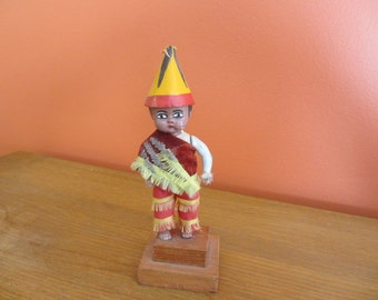 RARE Mexican Papantla Flyer Boy on Wooden Stand