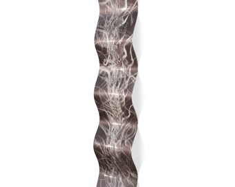 Wavy Metal Art 'Electric Wave' by Nicholas Yust - Modern Wall Sculpture Eclectic Home Accent on Metal