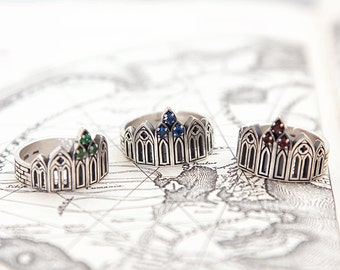 Castle ring | Gothic ring | Gamestone ring