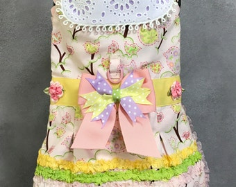 SAMPLE SALE DRESS: Easter Chick Pastel Dog Dress