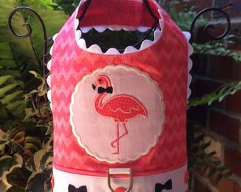 SAMPLE SALE:  Bow-Tie Flamingo Dog Harness