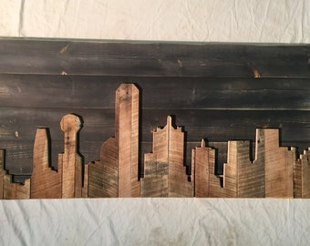 "Hand Crafted  Dallas 48"" Skyline"