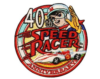 Speed Racer 40th Anniversary Patch Race Car Logo Licensed Iron On Applique