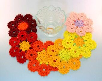 Crochet Coaster PATTERN, Flower Coasters, Crochet Home Decor DIY Gift, Crochet Coasters Digital Pattern PDF No.193 by Lyubava Crochet