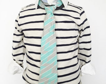 Aqua and Grey Necktie