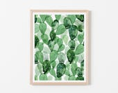 Double Watercolor Cactus Pattern Nursery Art. Nursery Wall Art. Nursery Prints. Nursery Decor. Cactus Wall Art. Cactus Nursery.