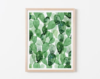 Double Watercolor Cactus Pattern Nursery Art. Nursery Wall Art. Nursery Prints. Nursery Decor. Cactus Wall Art. Cactus Nursery.